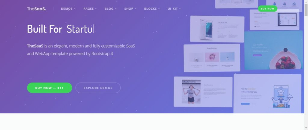 SaaS & software company website templates