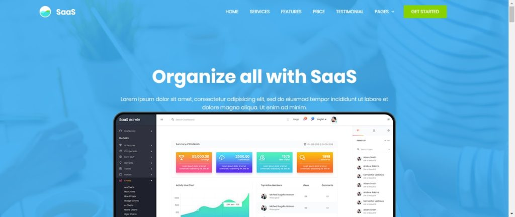 SaaS & software company landing page templates