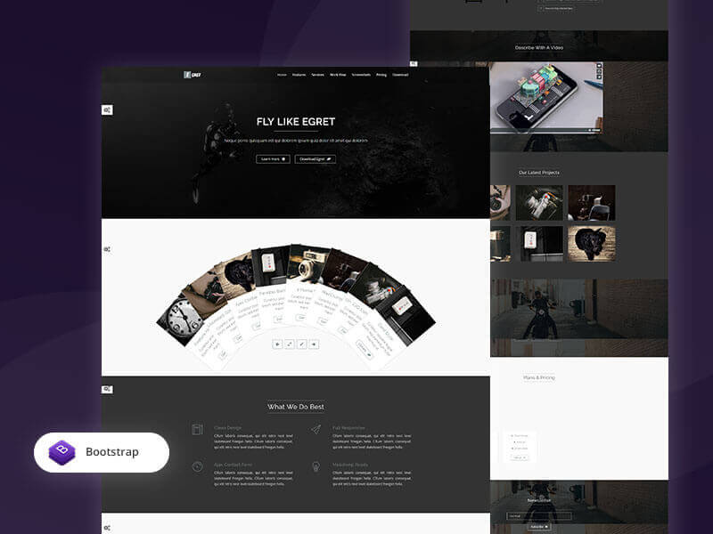 Egret HTML5 Free Landing Page