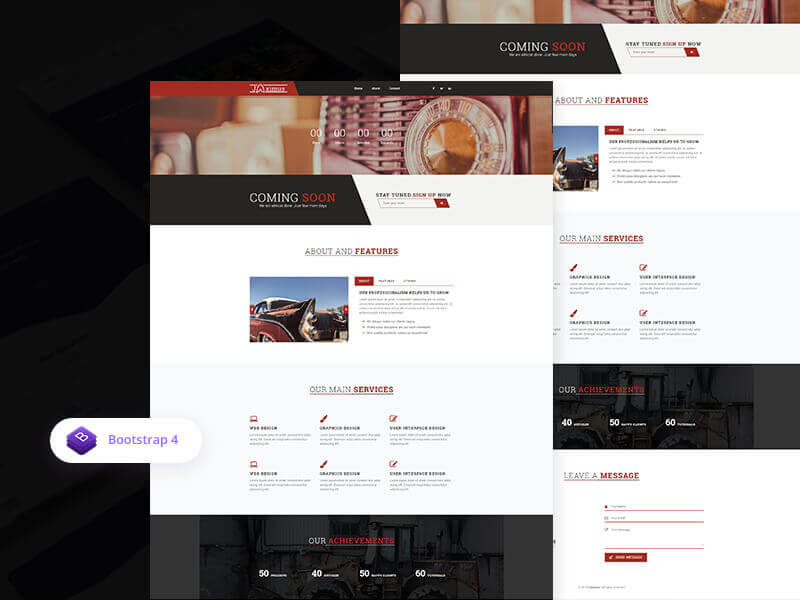 Jaximus Creative Bootstrap Coming Soon Template