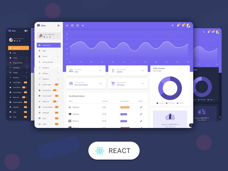 MatX React Dashboard Pro