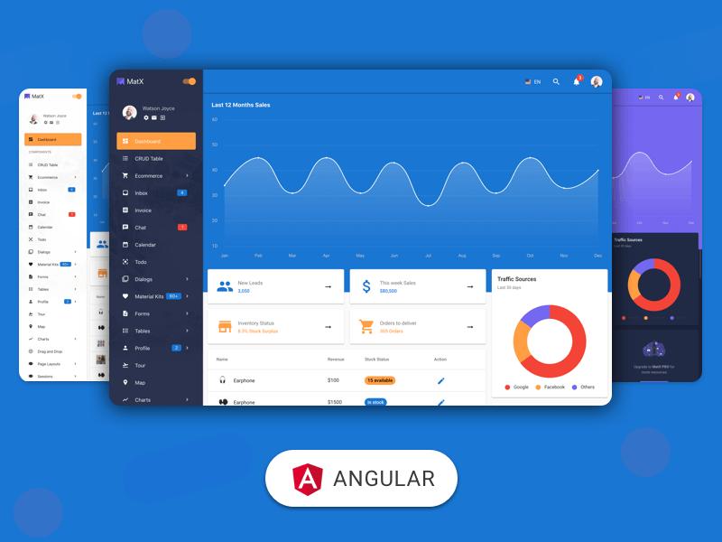MatX Angular Dashboard Pro
